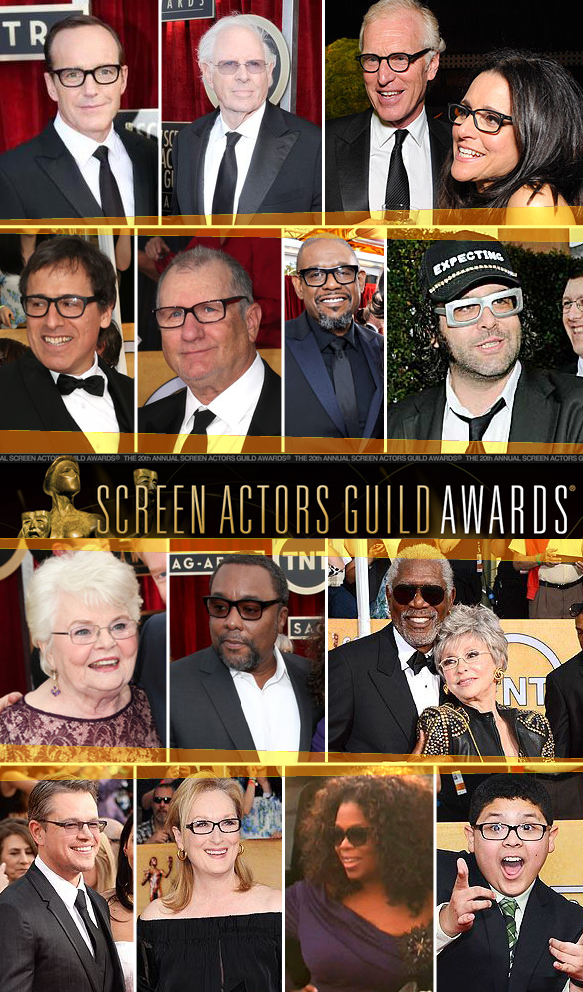 Clark Gregg, Bruce Dern, Brad Hall and Julia Louis-Dreyfus, David O. Russell, Ed O'Neill, Forest Whitaker, Judah Friedlander, June Squibb, Lee Daniels, Morgan Freeman and Rita Moreno, Matt Damon, Meryl Streep, Oprah Winfrey, Rico Rodriguez