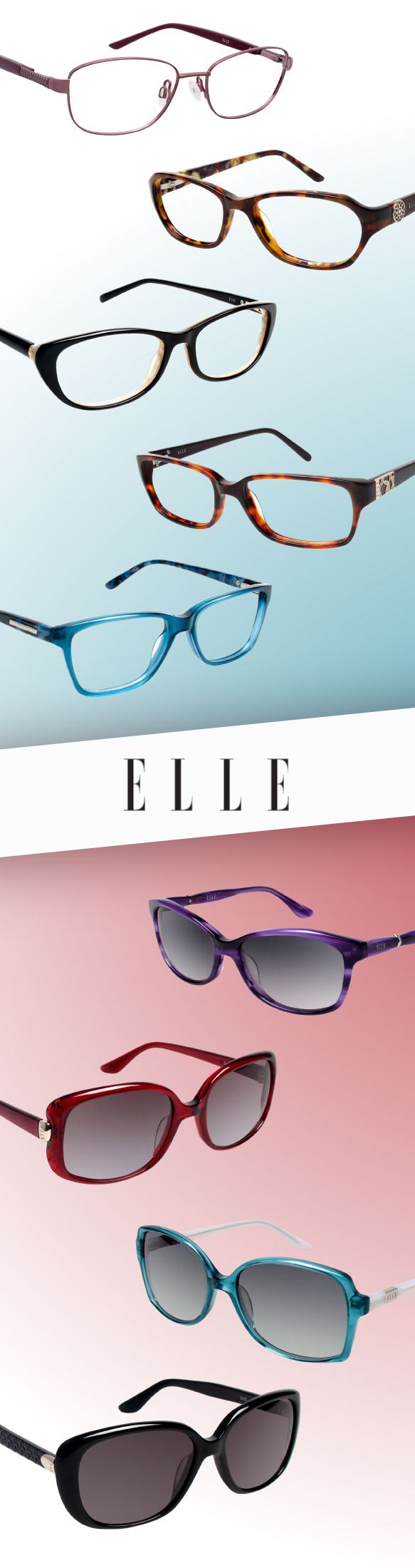 ELLE (EL 13369), ELLE (EL 13372), ELLE (EL 13350), ELLE (EL13370), ELLE (EL 13367), ELLE (EL 18983), ELLE (18992), ELLE (EL 18989), ELLE (18986)