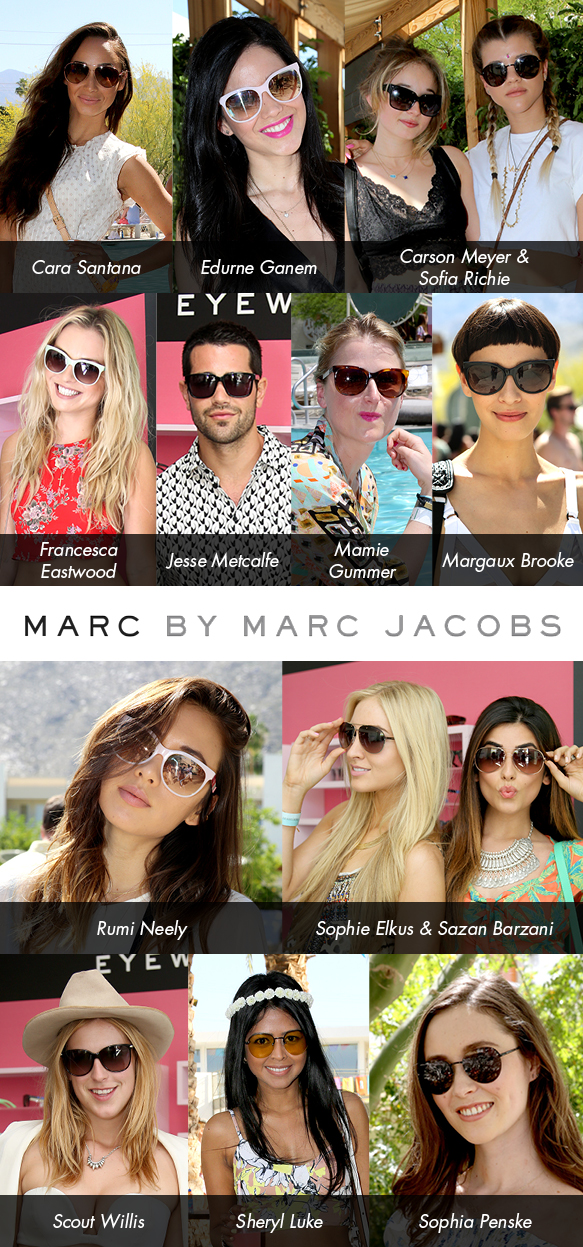 A-Listers at the Marc by Marc Jacobs Event at Coachella