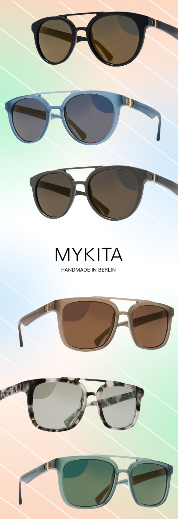 MYKITA (Giles) and MYKITA (Jarvis) in varying colorations