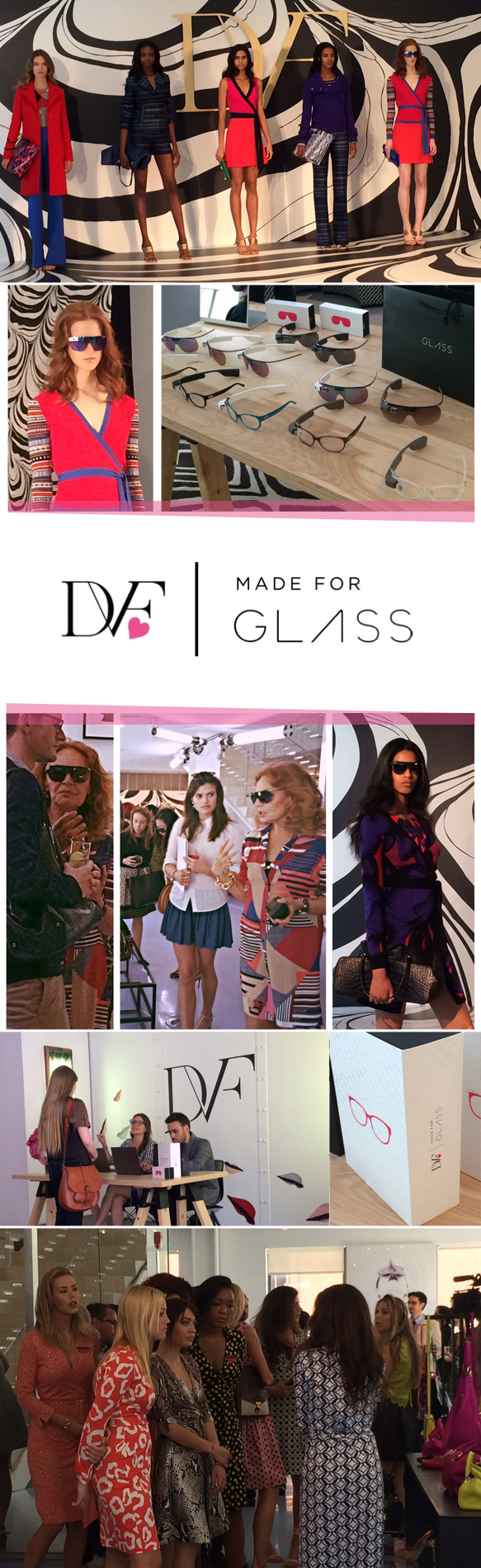 Coverage of the DVF | Made for Glass Launch Event