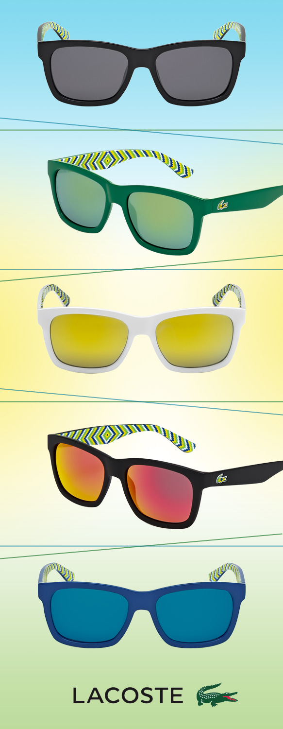 LACOSTE (L711S) in various colorations from its Rio collection