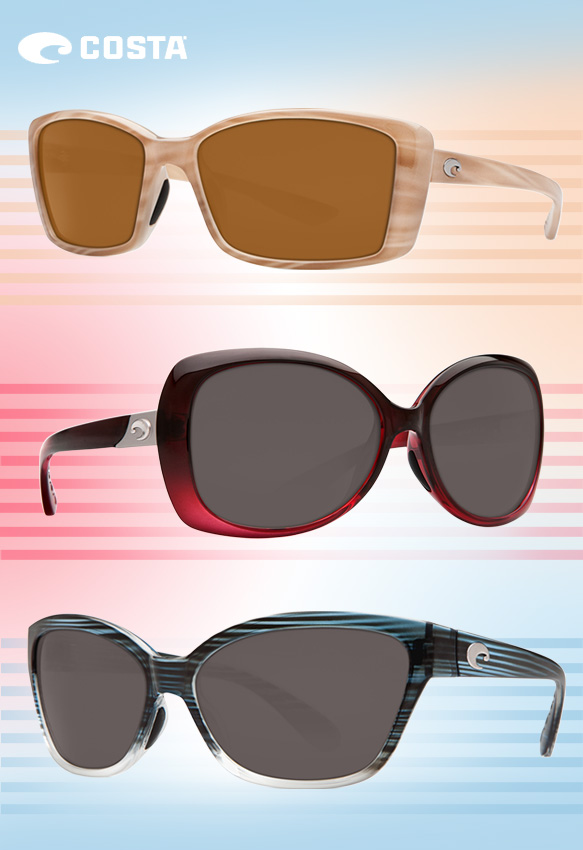 Costa Sunglasses (Pluma), Costa Sunglasses (Sea Fan), Costa Sunglasses (Starfish)
