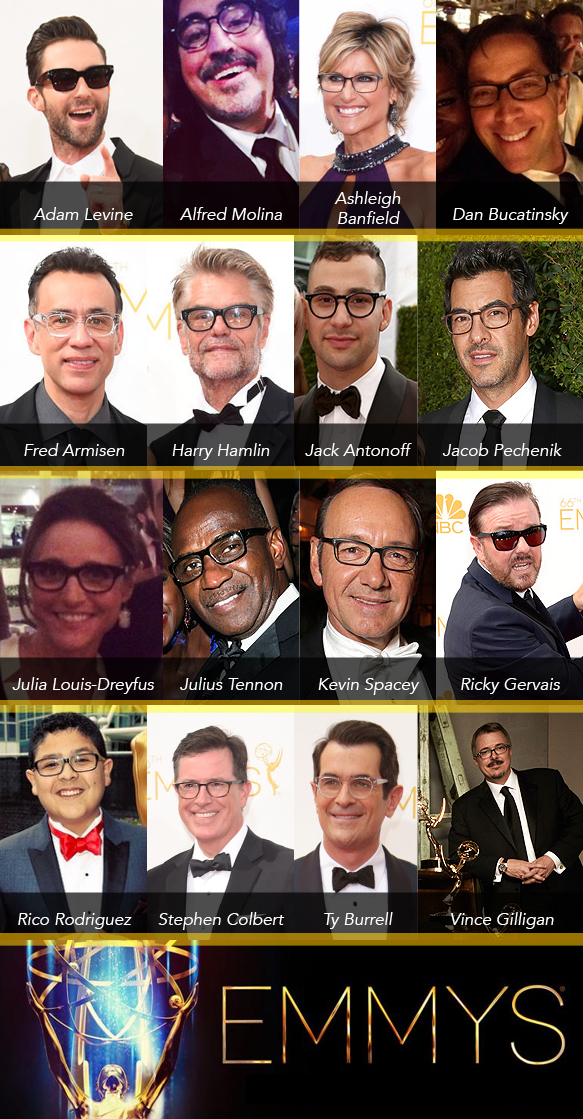 Eyewear-Clad Stars at the 66th Annual Primetime Emmy Awards