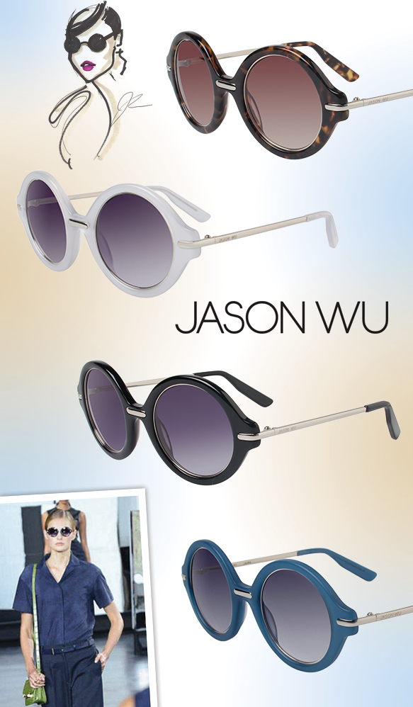 "Jason Wu (Laurie) in various colors, Jason Wu's ""Beauty"" inspirational sketch, the sunglasses spotted on the runway"