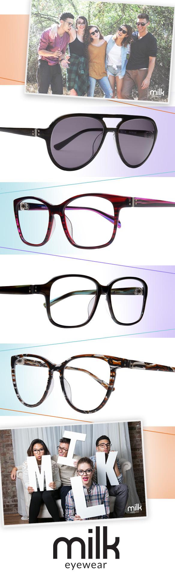 MILK Eyewear (Clint), MILK Eyewear (Emerson), MILK Eyewear (Corrado), MILK Eyewear (Audrey)