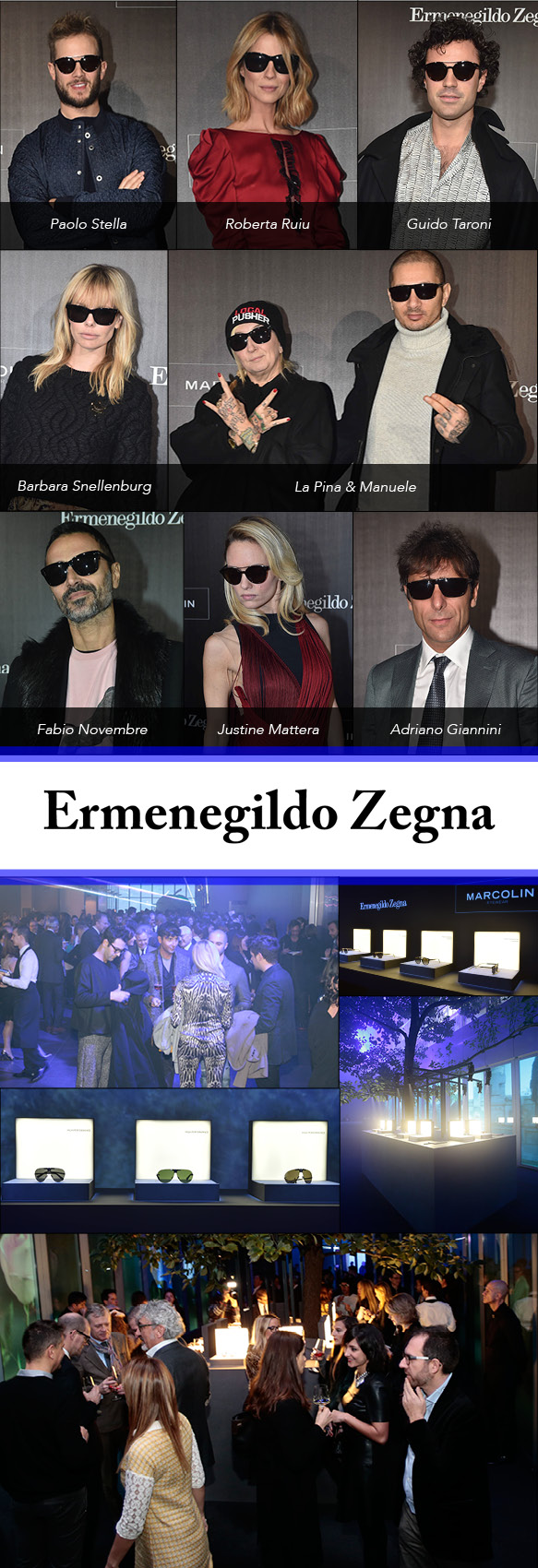 The scene at Ermenegildo Zegna's recent eyewear collection launch party in Milan, Italy