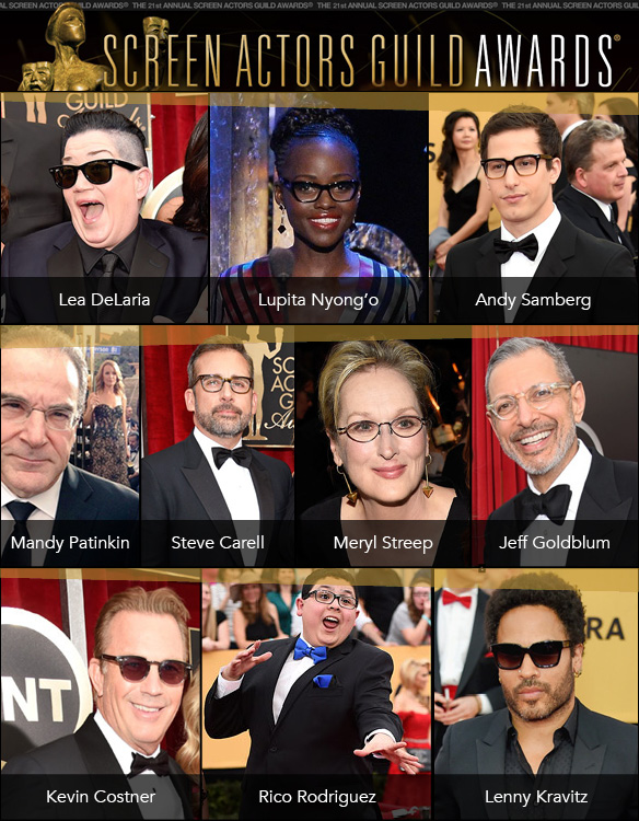 Eyewear-Clad Stars at the SAG Awards