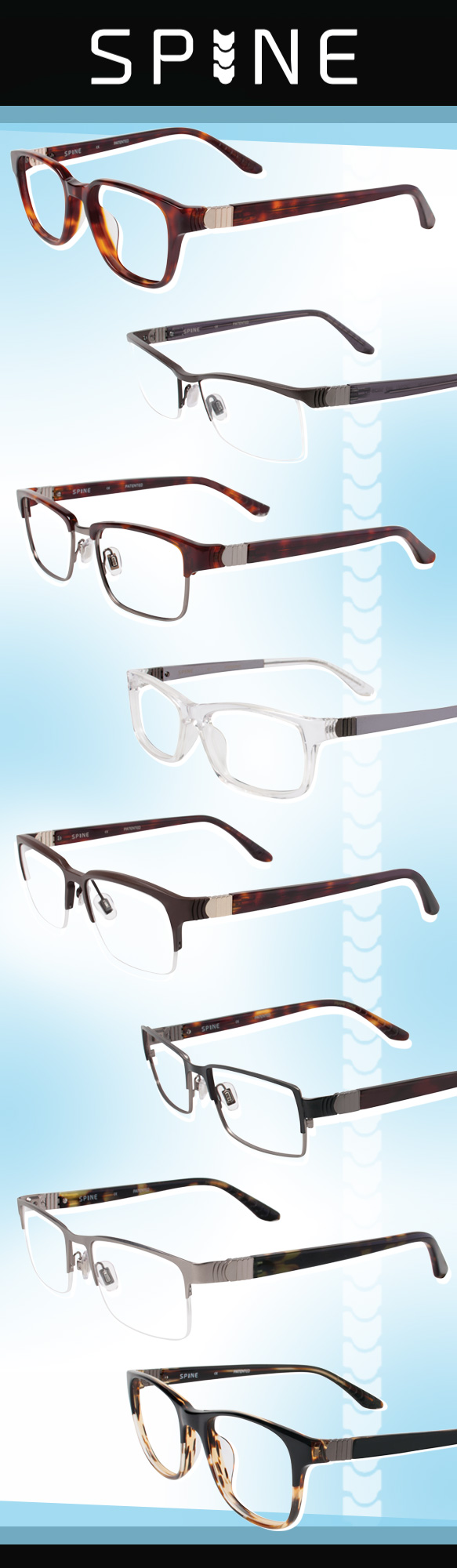 SPINE Eyewear (SP1003), SPINE Eyewear (SP2007), SPINE Eyewear (SP2006), SPINE Eyewear (SP1001), SPINE Eyewear (SP2003), SPINE Eyewear (SP2002), SPINE Eyewear (SP2004), SPINE Eyewear (SP1002)