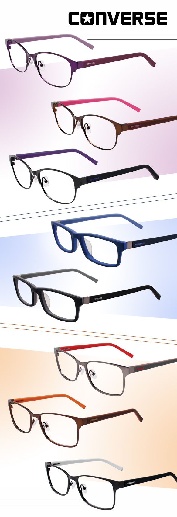 Converse All Star Eyewear (Q044), Converse All Star Eyewear (Q039), Converse All Star Eyewear (Q038) in varying colorations