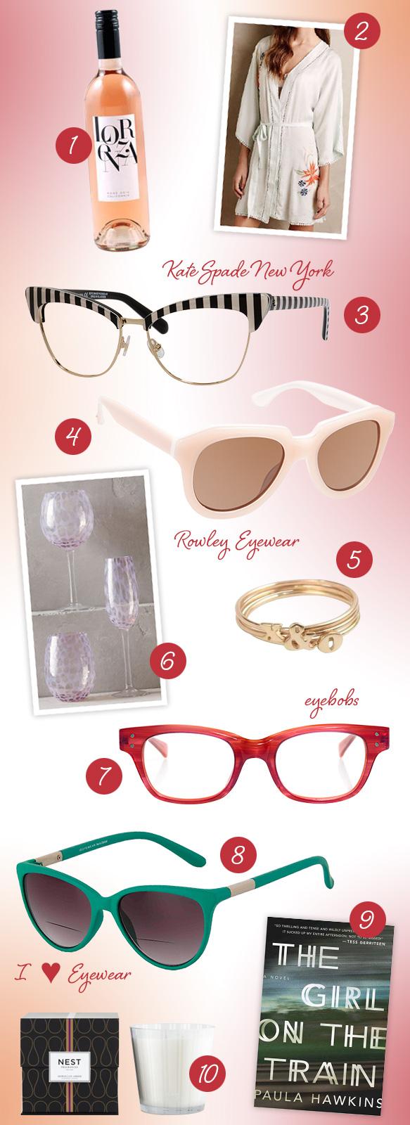 Kate Spade New York (Janna), Rowley Eyewear (No. 81), eyebobs (Fizz Ed), I Heart Eyewear (Natasha)
