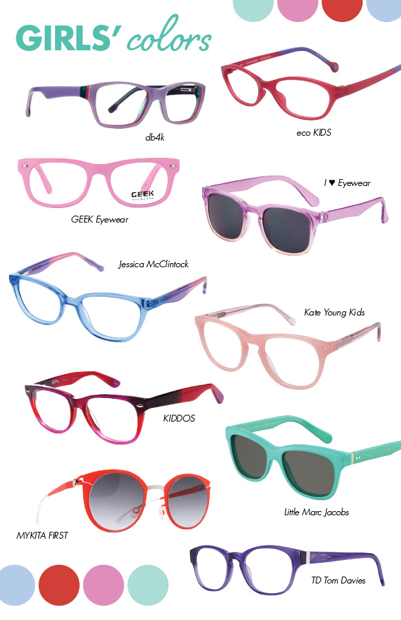 db4k (BFF), eco KIDS (Coral), GEEK Eyewear (Gamer Jr.), I Heart Eyewear (Maisie), Jessica McClintock (JMC 4802), Kate Young Kids (K901), KIDDOS (SK-K-CL004), Little Marc Jacobs (MJ611S), MYKITA FIRST (Dodo), TD Tom Davies (06946)