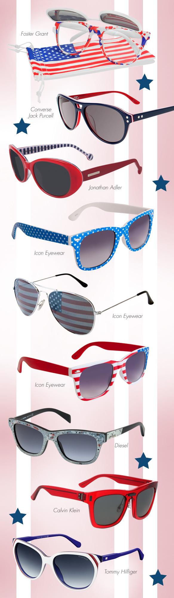 Foster Grant (Surge), Converse Jack Purcell (Y006), Jonathan Adler (Palm Beach), Icon Eyewear (20131-304001), Icon Eyewear (20131-305301), Icon Eyewear (30037-190580), Diesel (DL0111), Calvin Klein (CK7993S), Tommy Hilfiger (TH 1315/S)
