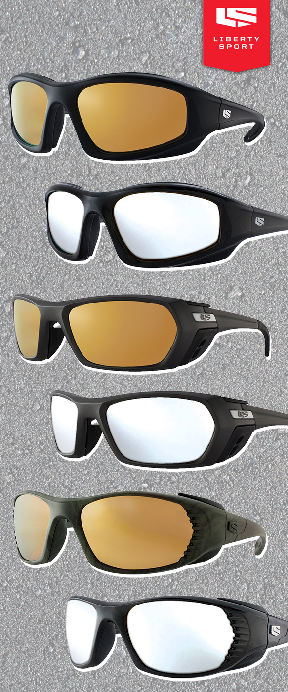 Liberty Sport (Deflector), Liberty Sport (Piston), Liberty Sport (Pursuit) in varying colorations