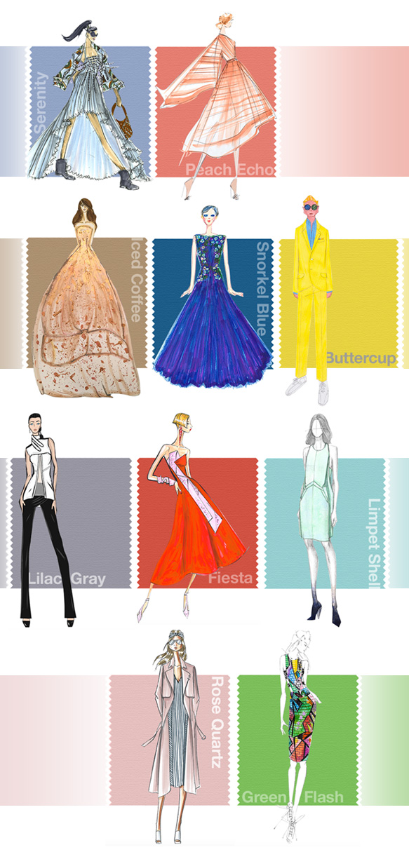 Spring/Summer 2016 Pantone Color Palette